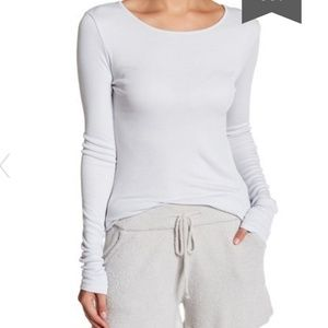Barefoot Dreams Luxe Ribbed long sleeve tee